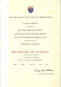 "<p style=""color: white;"">Bachelor of Science, </br>Chemical Engineering</style>"