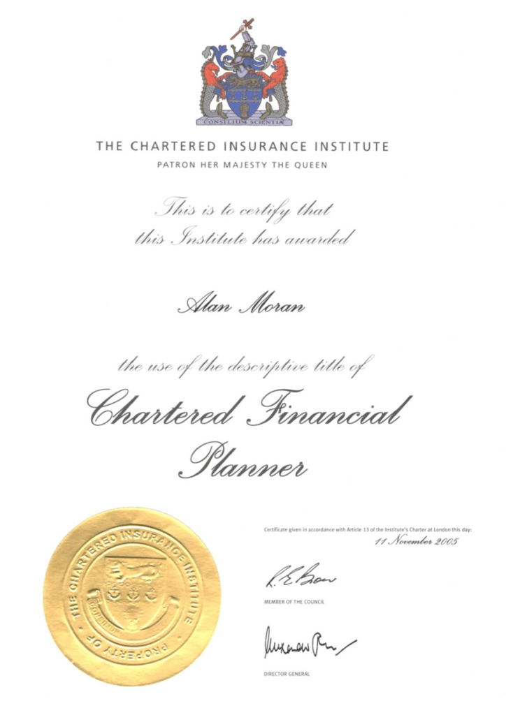 Professional Certificates - Interface Financial Planning